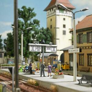 Busch 1623 HO Train station decoration set NEW