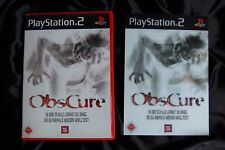 Obscure PS2 RARE SPECIAL EDITION Motion Lenticular Cover Art Card SurvivalHorror