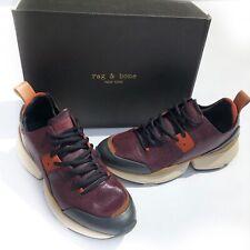 Rag & Bone Women's Manston Runner Merlot Sneaker Size 10 New