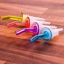 4x POURER & STOPPERS Cocktail/Drink/Wine/Liquor Bottle Dispenser Spout Flow/Pour
