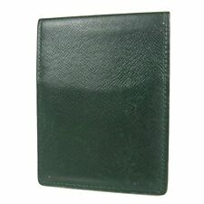 Auth LOUIS VUITTON Taiga Leather Bifold Pass Card ID Case Holder France 16043b