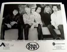 Styx 2002 promotional B&W press photo New Old Stock Flawless Condition