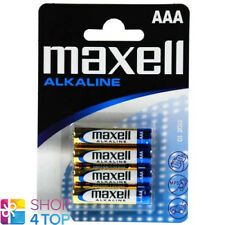 4 MAXELL ALKALINE AAA LR03 BATTERIES BLISTER PACK 1.5V MICRO MN2400 NEW