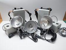 Norman 400B Portable Flash Set - 3x Flash heads + 2x Battery packs + 2x Chargers