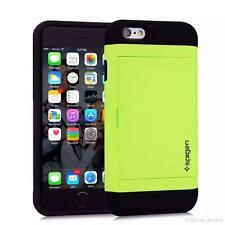 iPhone 7 6 6S Plus SLIDE CASE Apple Slim Armor CS Credit Card Wallet + GLASS