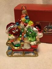 Polonaise Kurt Alder M&M'S In Sled W/Tag/Box Blown Glass 5�Excellent