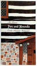 1975 Vintage Menu Fox & Hounds Early American Restaurant Hubertus Wisconsin