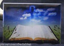 "The Bible 2"" X 3"" Fridge / Locker Magnet.  Field of Green Faith Christianity"