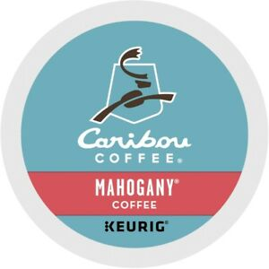 Caribou Mahogany Coffee 24 to 144 Keurig K cups Pick Any Size FREE SHIPPING