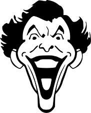 Vinyl Decal Joker Animated Face Cartoon Pick Sizeampcolor Car Truck Fits Sticker
