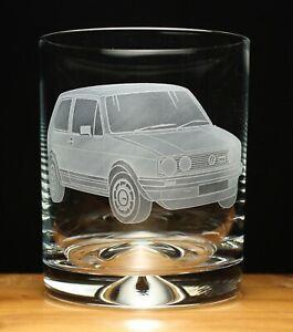 Golf GTI MK1 engraved glass tumbler gift present