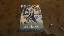 Archie Manning Ole Miss Rebels quarterback signed autographed card NO Saints