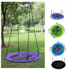 40'' Kids Outdoor Playground Hanging Rope Nest web Tree Swing seat set Yard Toys
