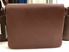 Robert Graham Hazel Pebbled Faux-Leather Messenger Bag Cognac NEW $278