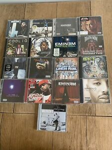 Rap Hip/hop Cd 17 Albums Bundle Slim Shady Ice T Coolio Warren G And More