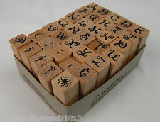 Stamp Act 34 pc Alphabet Rubber Stamp Set Upper Case Swirl Pre-owned Complete