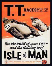 "10"" x 8"" TOURIST TROPHY Moto Race Bike Biker placca di metallo tin sign 592"