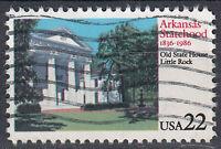 USA Briefmarke gestempelt 22c Arkansas Statehood State 1836 - 1986 / 493