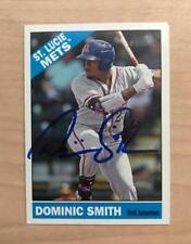 DOMINIC SMITH ST. LUICE METS AUTOGRAPHED 2015 TOPPS HERITAGE CARD #43 W/COA