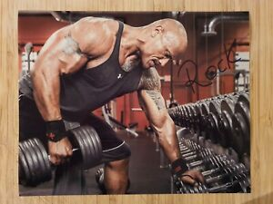 "Dwayne Rock Johnson  Hand Signed  Autograph   8x10"" Photo 23294"
