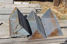 1 Antique Grain Elevator Conveyor Metal Scoop Bucket Rusty Barn Storage Bin #23