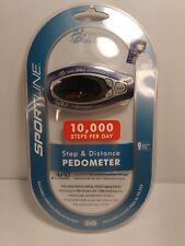Sportline Step & Distance Pedometer #340 NEW Walking Program 10,000 Steps