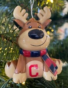 Cleveland Indians Reindeer Christmas Holiday Tree Ornament FREE USA SHIPPING