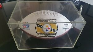 2005 Pittsburgh Steelers SB XL Champion Football WITH Display Case - Collectors