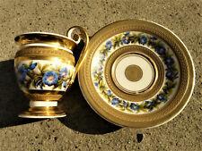 Ancienne tasse à café en porcelaine de paris  époque  Empire   19eme siècle
