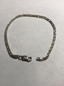 """925 Sterling Silver Popcorn Link Bracelet  Anklet 8 1/2"""" ~ 4 Gr"""
