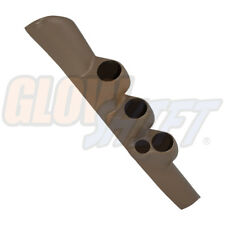 TAN 98-02 DODGE RAM 2500 3500 TRIPLE GAUGE PILLAR POD w SPEAKER CUT for CUMMINS