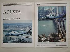 7/1990 ARTICLE 16 PAGES GRUPPO AGUSTA S211 HELICOPTER A109-K2 A129 MANGUSTA NH90