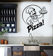 Vinyl Wall Decal Pizza Chef Pizzeria Store Italian Food Tasty Stickers (g2961)