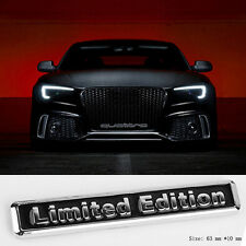 E868 Limited Edition Emblem Badge auto aufkleber 3D Plakette car Sticker schwarz
