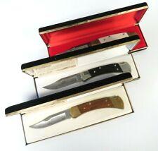 Harley Davidson 3 Knife Set (Edition I, II, II) Hunter Style Buck Folding Knives