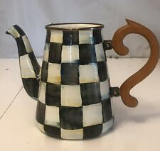 MACKENZIE-CHILD'S  HAND PAINTED,COURTLY CHECK ENAMEL, PITCHER