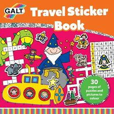 Galt Travel Sticker Book With 30 Pages Full Of Fun Puzzles & Pictures To Colour
