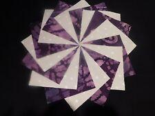 30 4x4 Lavender/Purple Quilt Fabric Squares~4082