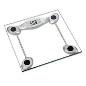180KG Digital Electronic Bathroom Scales Glass LCD Measures Body Weight Machine