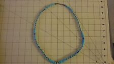 ESTATE GRADUATED NATURAL TURQUOISE DISK NECKLACE  sterling