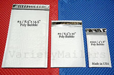 24 Poly Bubble Shipping Envelope 3 Size Variety Pack Self-Sealing Padded Mailers