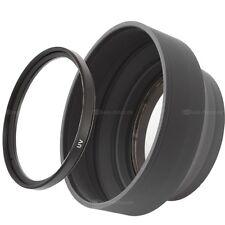 77mm filtro UV filtro de protección & parasol goma Stage lens Hood