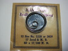 HAMILTON  P/W MAIN SPRING #1228 / 3028   12s    ( .17mm ) &   MOTOR BARREL