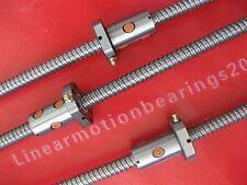 3pcs Anti bachlash ballscrews ball screws 1610-425/625/900mm-C7 cnc router