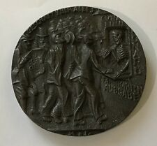 LUSITANIA,BRITISH PROPAGANDA COMMEMORATIVE IRON MEDAL.VERY HIGH GRADE 56 MM.L-4