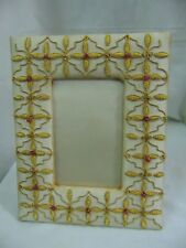 Picture Photo Frame Home decor table top 8x10hand craf zari Embroidery Vintage