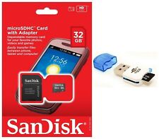 SanDisk 32GB MicroSD Micro SDHC TF Class 4 Memory Card Reader Adapter