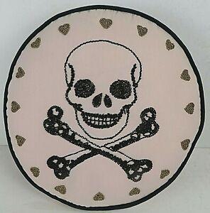 Emily & Meritt for Pottery Barn Teen Discontinued Skull Crossbones Decor Pillow