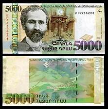 ARMENIA 5000 5,000 DRAM 2012 P 56 AU-UNC