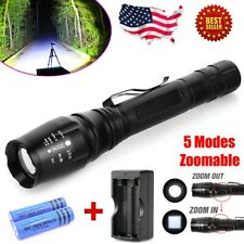 9900000Lumens Tactical Police T6 LED Flashlight Rechargeable Torch Light Lamp US